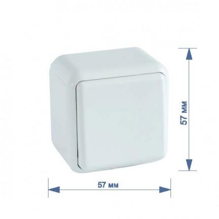 Выключатель RIGHT HAUSEN ASTRA NV 1-й наружный белый HN-017011