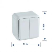 Выключатель RIGHT HAUSEN ASTRA NV 2-й наружный белый HN-017031