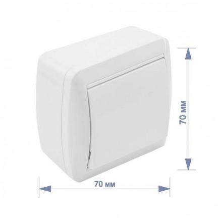 Выключатель RIGHT HAUSEN BERTA 1-й наружный белый IP54 HN-013011