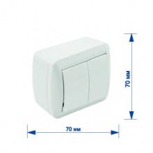 Выключатель RIGHT HAUSEN BERTA 2-й наружный белый IP54 HN-013021
