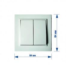 Выключатель RIGHT HAUSEN KIRA 2-й внутренний белый HN-016041