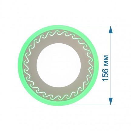 Светильник встраиваемый LED PANEL RIGHT HAUSEN LACE 6W 4000K белый, подсветка 3W green