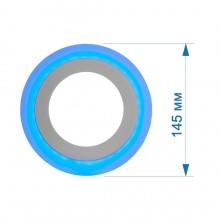 АКЦИЯ Светильник встраиваемый LED PANEL RIGHT HAUSEN NEPTUNE 6W 4000K белый, подсветка 3W blue