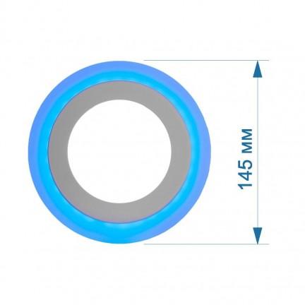 Светильник встраиваемый LED PANEL RIGHT HAUSEN NEPTUNE 6W 4000K белый, подсветка 3W blue
