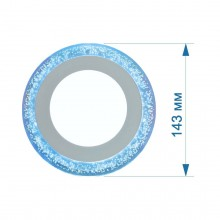 Светильник LED PANEL RIGHT HAUSEN BUBBLE  6W 4000K белый, подсветка 3W blue