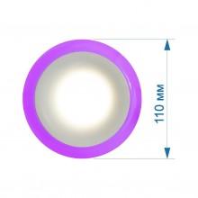 Светильник LED PANEL RIGHT HAUSEN RIM 3W 4000K белый, подсветка 3W фиолетовая