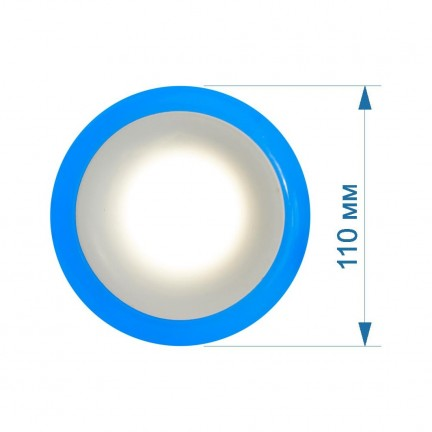 Светильник LED PANEL RIGHT HAUSEN RIM 3W 4000K белый, подсветка 3W синяя