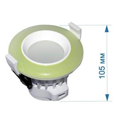 АКЦИЯ Светильник встраиваемый LED PANEL RIGHT HAUSEN TONE  6W 4000K зеленый HN-2327020
