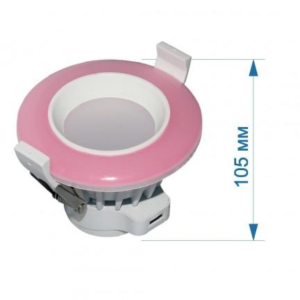 АКЦИЯ Светильник встраиваемый LED PANEL RIGHT HAUSEN TONE  6W 4000K розовый HN-2327030
