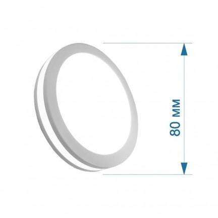 Светильник LED PANEL RIGHT HAUSEN RING 5W 4000K белый