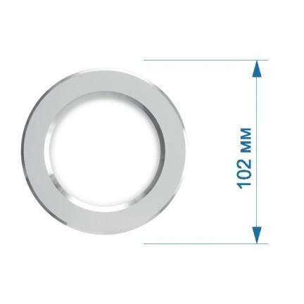 Светильник встраиваемый LED PANEL RIGHT HAUSEN круг CLASSIC 5W 4000K IP20 хром / хром