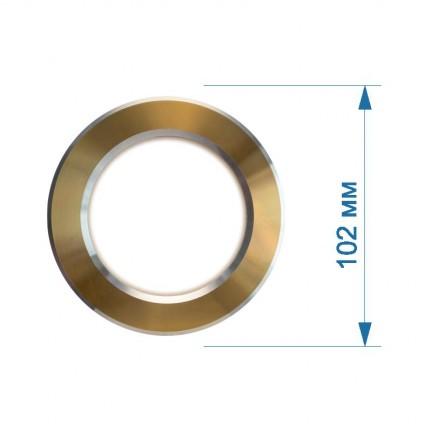 Светильник встраиваемый LED PANEL RIGHT HAUSEN круг CLASSIC  5W 4000K IP20 золото / хром