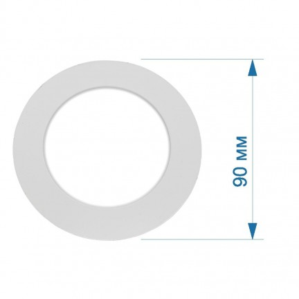 Светильник LED PANEL RIGHT HAUSEN круг SIMPLE  3W 4000K IP20