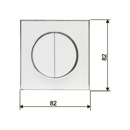 Выключатель RIGHT HAUSEN LAURA 2-й внутренний белый HN-015041