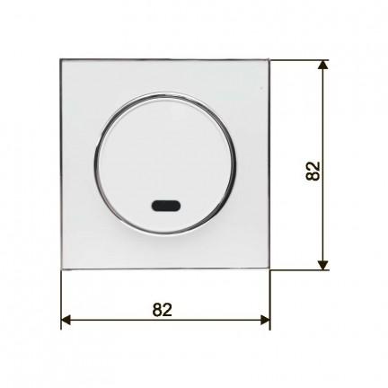Выключатель RIGHT HAUSEN LAURA 1-й внутренний с подсветкой белый HN-015021