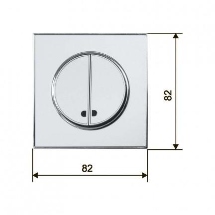 Выключатель RIGHT HAUSEN LAURA 2-й внутренний с подсветкой белый HN-015051