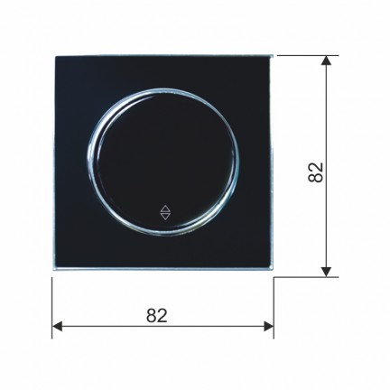 Выключатель RIGHT HAUSEN LAURA 1-й внутренний проходной черный HN-015032