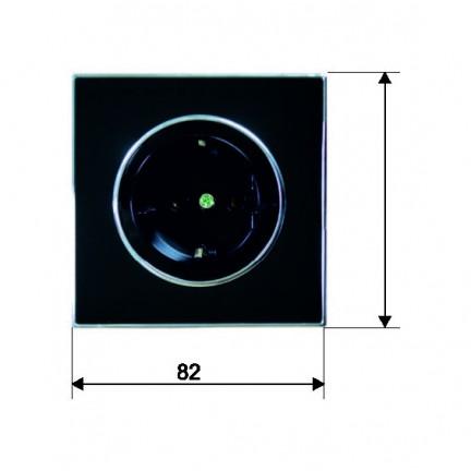Розетка RIGHT HAUSEN LAURA 1-я внутренняя с заземлением черная