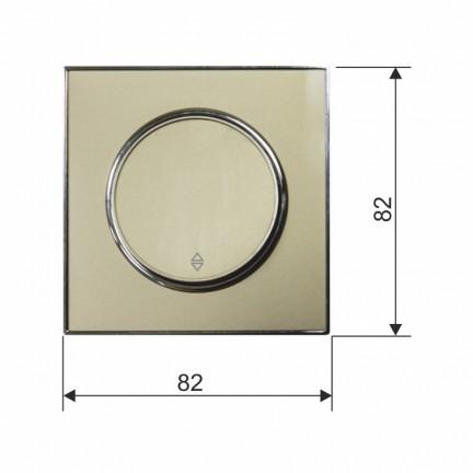 Выключатель RIGHT HAUSEN LAURA 1-й внутренний золото проходной HN-015038