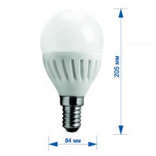 Лампа RIGHT HAUSEN LED Platinum ШАР 9W E14 4000K, G45  HN-285030