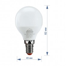 Лампа RIGHT HAUSEN LED Standard ШАР 7W E14 4000K, G45  HN-155030