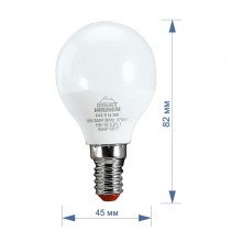 Лампа RIGHT HAUSEN LED Standard ШАР 5W E14 4000K, G45  HN-155010