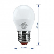 Лампа RIGHT HAUSEN LED Standard ШАР 5W E27 4000K, G45  HN-155020