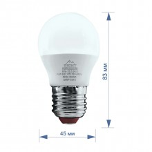 Лампа RIGHT HAUSEN LED Standard ШАР 7W E27 4000K, G45  HN-155040