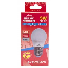 Лампа RIGHT HAUSEN LED Standard ШАР 5W E27 4000K G45 HN-155020