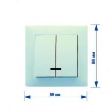 Выключатель RIGHT HAUSEN VELENA 2-й внутренний с подсветкой белый HN-011051