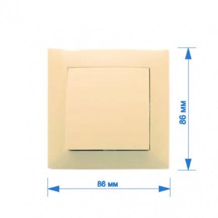 Выключатель RIGHT HAUSEN VELENA 1-й внутренний крем HN-011013