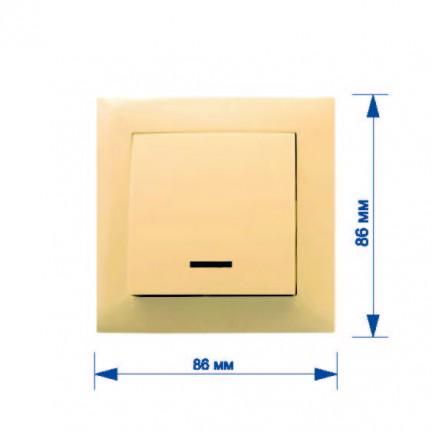 Выключатель RIGHT HAUSEN VELENA 1-й внутренний с подсветкой крем HN-011023