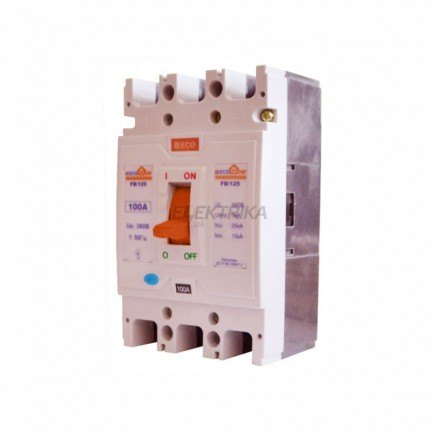 Автоматический выключатель ECO FB/125 3p 100A ECOHOME АСКО