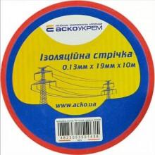 Изолента 0,13 мм х 19 мм/10 м (красная)  АСКО