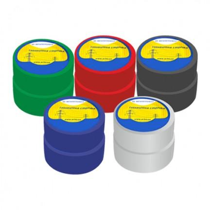 Изолента 0,13 мм х 19 мм / 10 м Набор №1 (2 черные + 2 синие + 2 красные + 2 зеленые + 2 белые)  АСКО