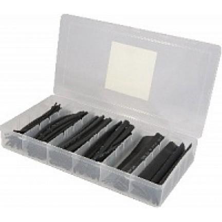 Термоусадочных трубок набор HST-100B (черные) АСКО