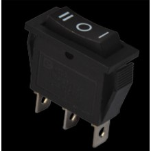 Переключатель КСD3-103 B/B 1 клавиша (перекидной черный) АСКО