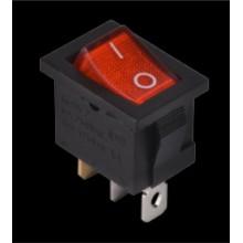 Переключатель КСD1-101N R/B 220V 1 клавиша (красный с подсветкой) АСКО