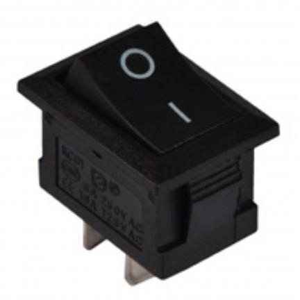 Переключатель КСD1-101 B/B 1 клавиша черный АСКО NEW