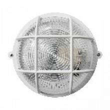 Светильник круг НПП-65 белый прозрачный с рис. с решеткой ПП-1051-10-1/6
