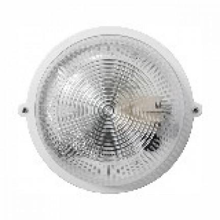 Светильник круг НПП-65 белый / прозрачный с рис. ПП-1001-10-0/6