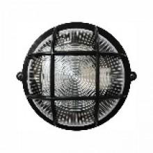 Светильник круг НПП-65 черный прозрачный с рис. с решеткой ПП-1052-10-1/6