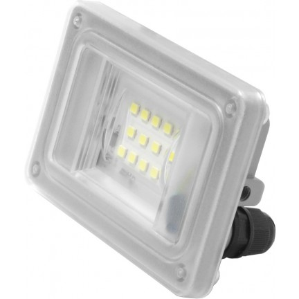 Прожектор Ecostrum LED Farutti Slim 10W 800 lum 6500K серый