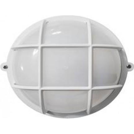 Светильник настенный Ecostrum 60W Е27 круг белый с решеткой SL-1051