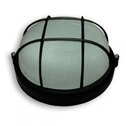 Светильник настенный Ecostrum 60W Е27 круг черный с решеткой SL-1052