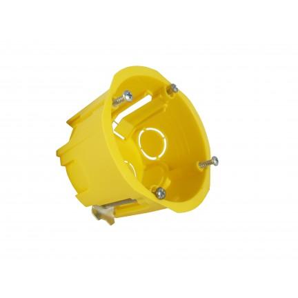 Коробка монтажная в гипсокартон d68 мм наборная с металлическими лапками (Харьков)