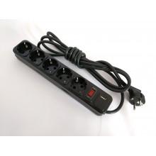 Фильтр компьютерный КРЕТ черный 3 м, 5 розеток USB