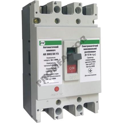 Автоматический выключатель АВ3002/3H 3-5In 3P In=80A