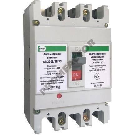 Автоматический выключатель АВ3003/3H 3-5In 3P In=225A