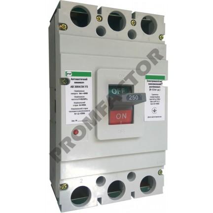Автоматический выключатель АВ3004/3H 3-5In 3P In=250A